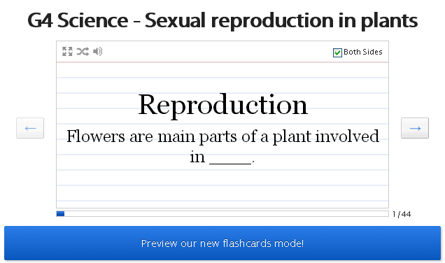 Sexual Reproduction in Plants (Games) : Biology : Class 7
